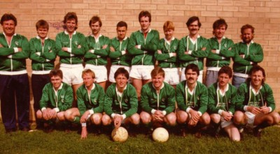 1986 Ingle Farm A Team - Division 5 Champions BACK ROW - Mick Dobson (Coach) Jeremy Stubbs, Paul Townsend, Tommy Fazekas, Terry Loveday, Kevin O'Hara, Steve Pickford, Jamie McGowan, Steve Cullen, Paul Lenarczyk (Assistant Coach) FRONT ROW - C Stubbs, Paul Hurst, J Poppitt, Mark Grice, Michael Smith, Sam McMillan, Jeremy Nelson
