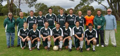 2006 A Team - Division 2 Champions BACK ROW - Ron Sparks (Team Manager) Alan Leadbeater (Ass Coach) Mario Staltari, Ricky Simpson, Chris Ennis, Torsten Rutter, Alex Lynn, Anthony Staltari, Colin Smith (GK) Paul Simpson (Coach) Brian Groom (trainer) FRONT ROW - David Ennis, Fernando Lara, Anthony Martini, Brendan Altus, Martin Lara, Leon Hannessen, Anthony Ragazzo